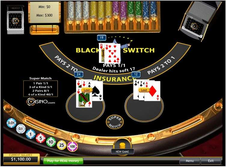 Play Blackjack Switch Online at Casino.com Australia