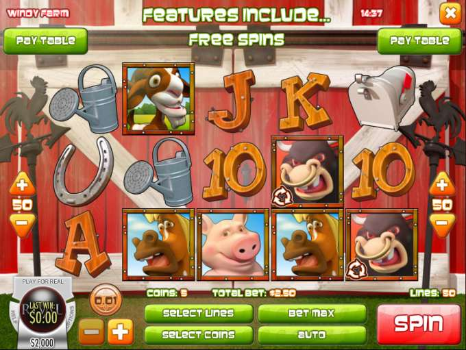 Windy Farm Slot - Play the Rival Gaming Casino Game for Free