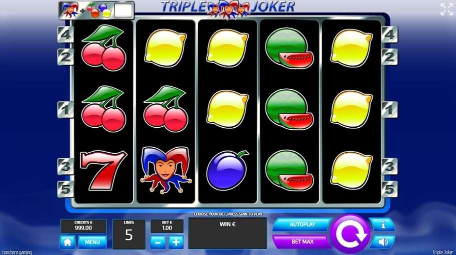 Play Triple Joker Video Slot from Tom Horn Gaming for Free