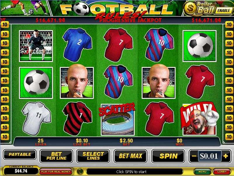 Football Rules Slot by Playtech