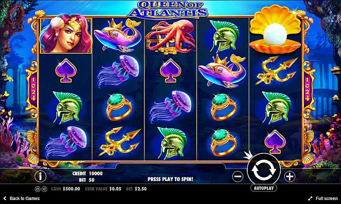 Queen of atlantis casino game