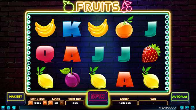 Fruits by Capecod Gaming
