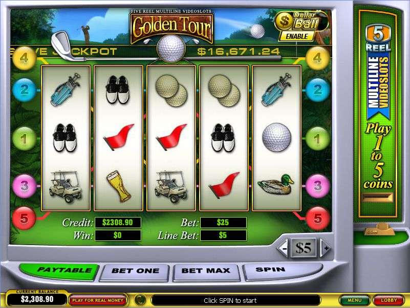 Golden Tour Slot by Playtech