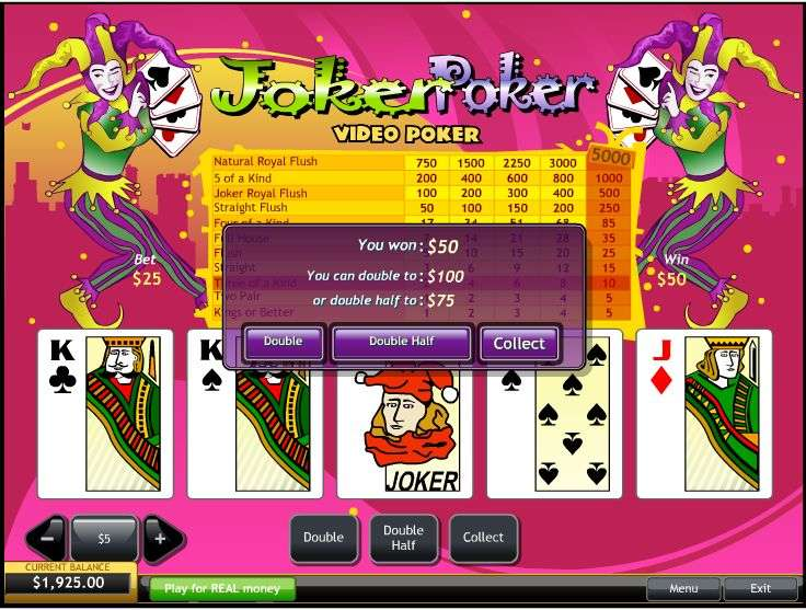 free online casino games poker joker