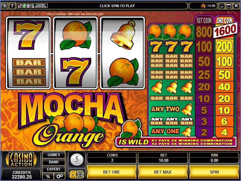 Mocha Orange Slots - Play Microgaming Slot Machines for Free