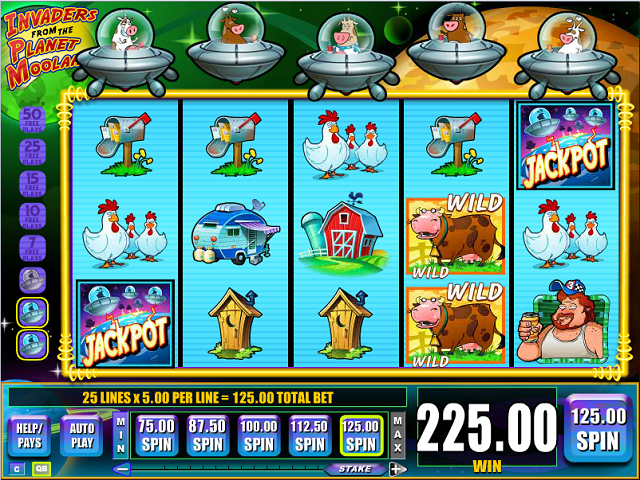 Play Invaders From The Planet Moolah Online Free