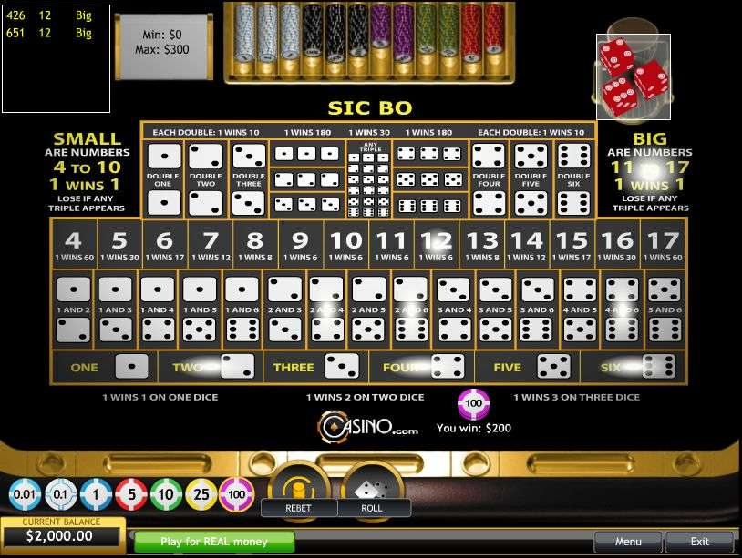video slots online sic bo