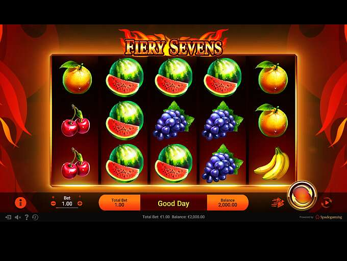 Play Fiery Sevens Video Slot from Spadegaming for Free