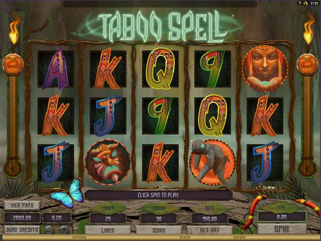 play taboo spell video slot from genesis gaming for free. Black Bedroom Furniture Sets. Home Design Ideas
