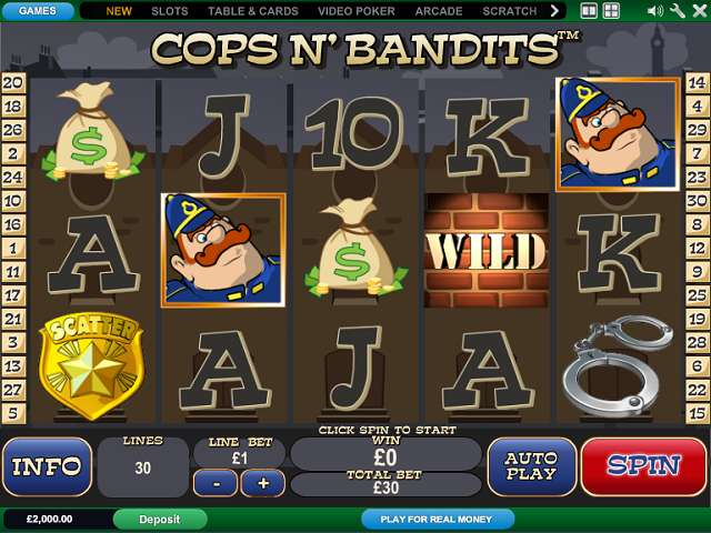 CopsNBandits™ Slot Machine Game to Play Free in Playtechs Online Casinos