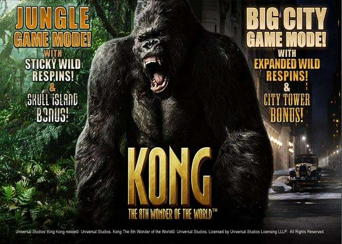 Play Kong The Eighth Wonder of the World Slots Online