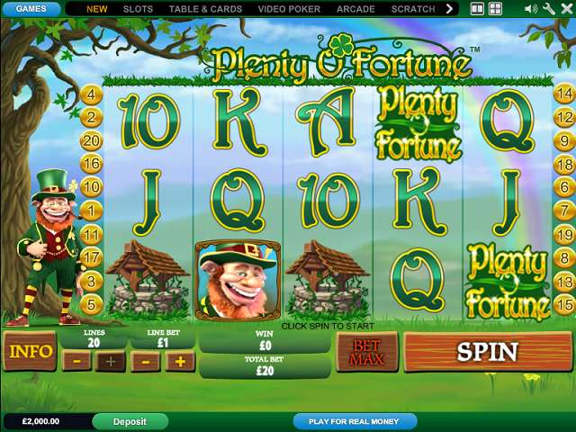 Play Plenty O'Fortune Slots Online at Casino.com Canada