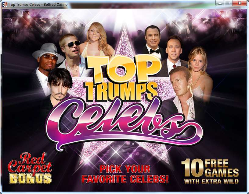 Top Trumps Celebs Slots - Now Available for Free Online