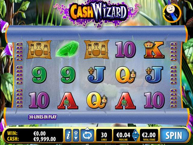 Cash Wizard is a 5-reel video slot with 30 paylines and a max bet of credits.The slot is based on this cute, young wizard boy and his world of magic and sorcery.Cash Wizard is a video wheel game with symbols including potion bottles, herbs, and high card values 9, 10, J, Q, K and A.The slot /5.