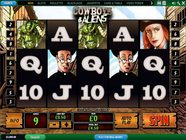 Cowboys & Aliens by Playtech