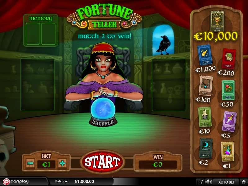 Fortune teller casino game