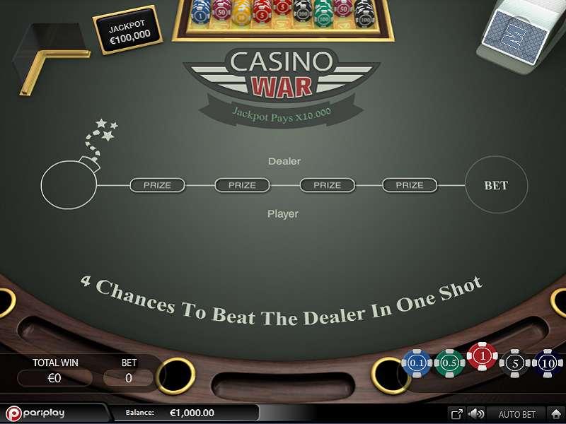 casino war free play