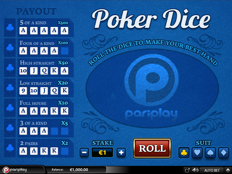 casino games poker online free
