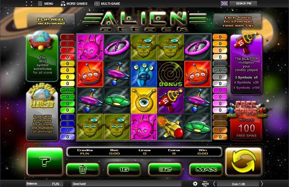 Spiele Alien Attack - Video Slots Online