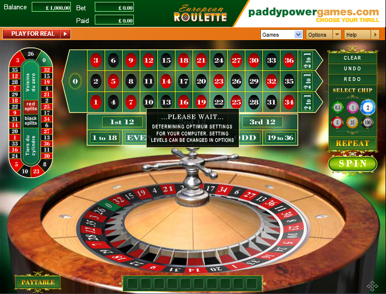 casino games european roulette