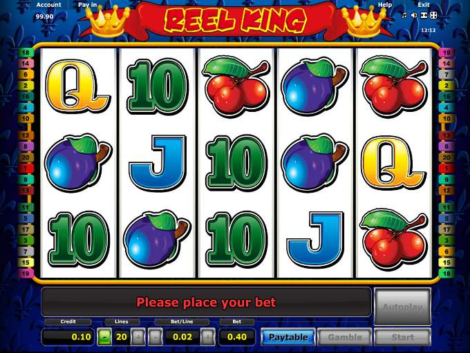play online casino free slots reel king