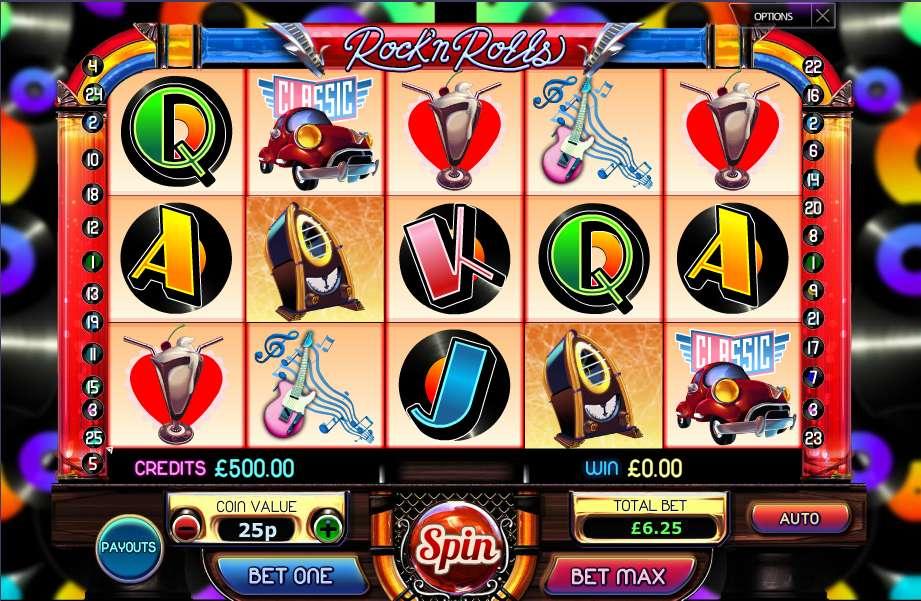 rock n roll casino slots