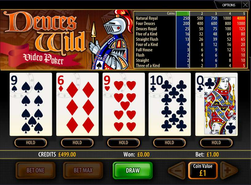 Free deuces wild video poker trainer