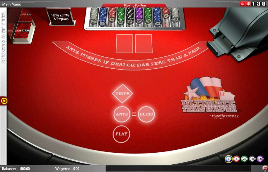 Ultimate Texas Holdem Poker Online Free