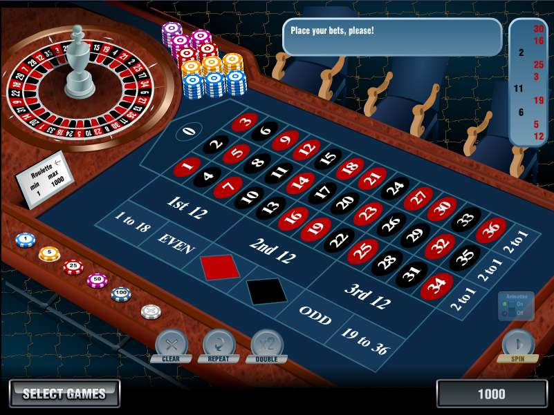Play roulette for free game