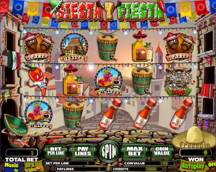 Siesta y Fiesta Slot Machine - Try for Free Online
