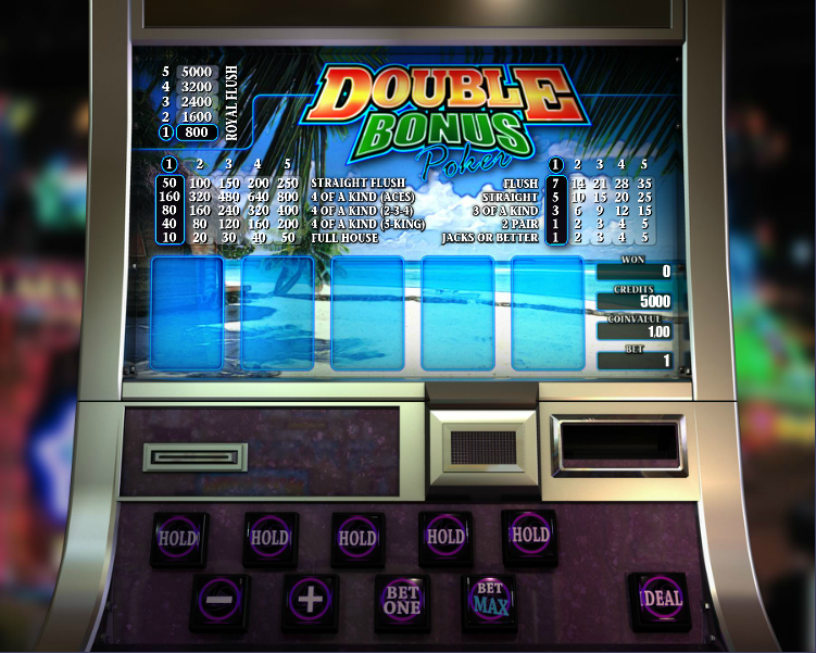 Double Double Bonus Video Poker Game - Play Online for Free