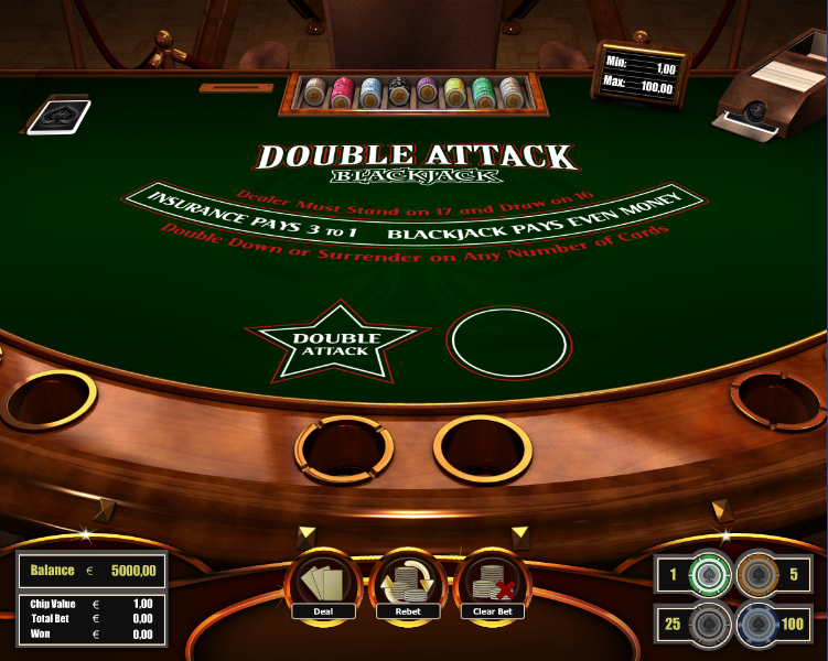 Play Double Attack Blackjack at Casino.com South Africa