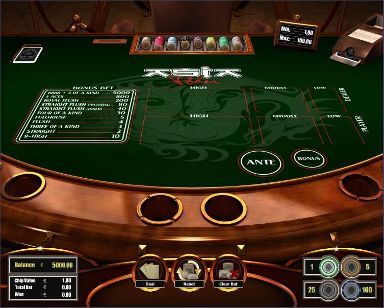Play Asia Poker Table from The Art Of Games for Free
