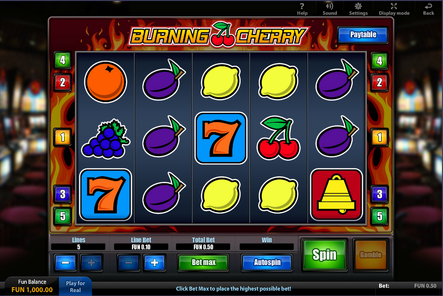 20 Burning Hot Slot Machine - Try the Free Demo Version