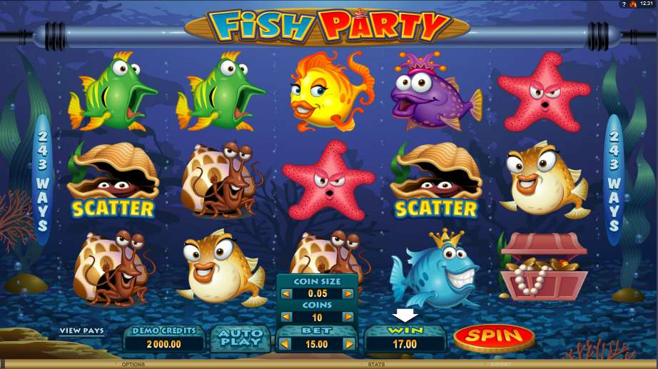 Fish Party Slot - Play the Microgaming Casino Game for Free