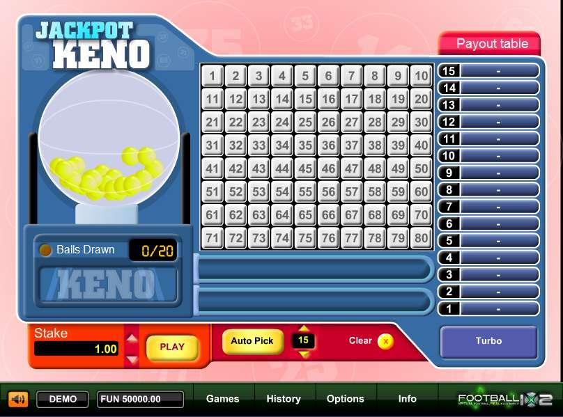 Keno betting strategies