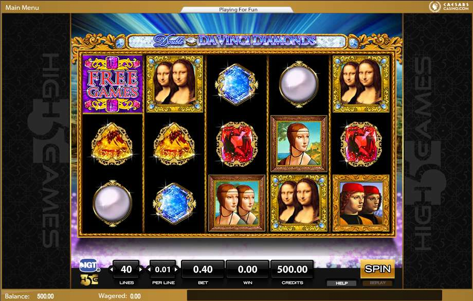 da vinci diamonds slots gratis
