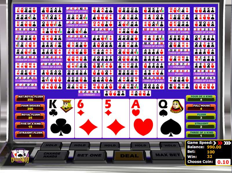 100 play video poker free play for fun