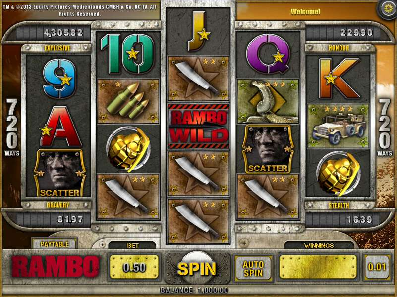 Rambo™ Slot Machine Game to Play Free in PartyGamings Online Casinos