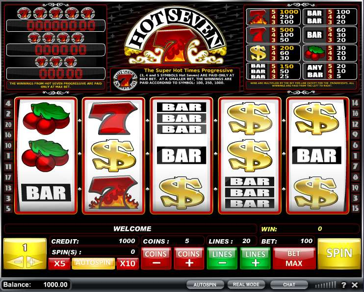 play online casino sizling hot