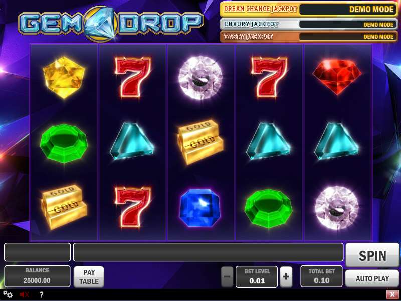 Play Gem Drop Slots Here Free With No Download