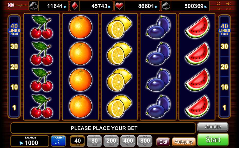 free casino play online sizzlig hot