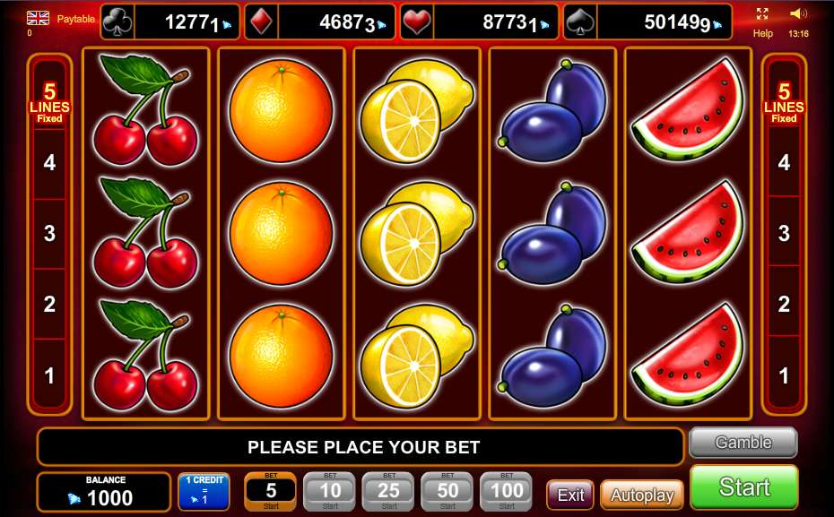 online casino free sizzling hot free game