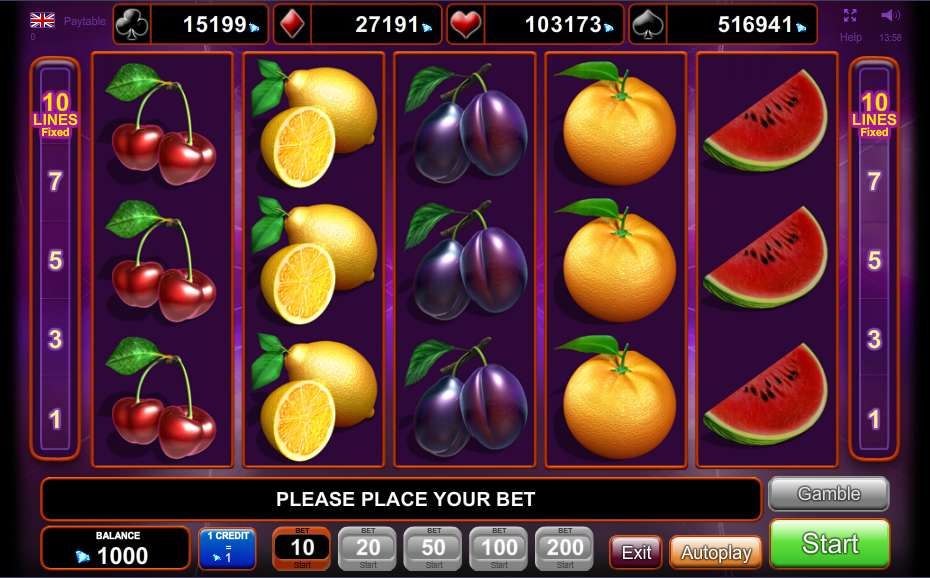 play online free slot machines dice and roll