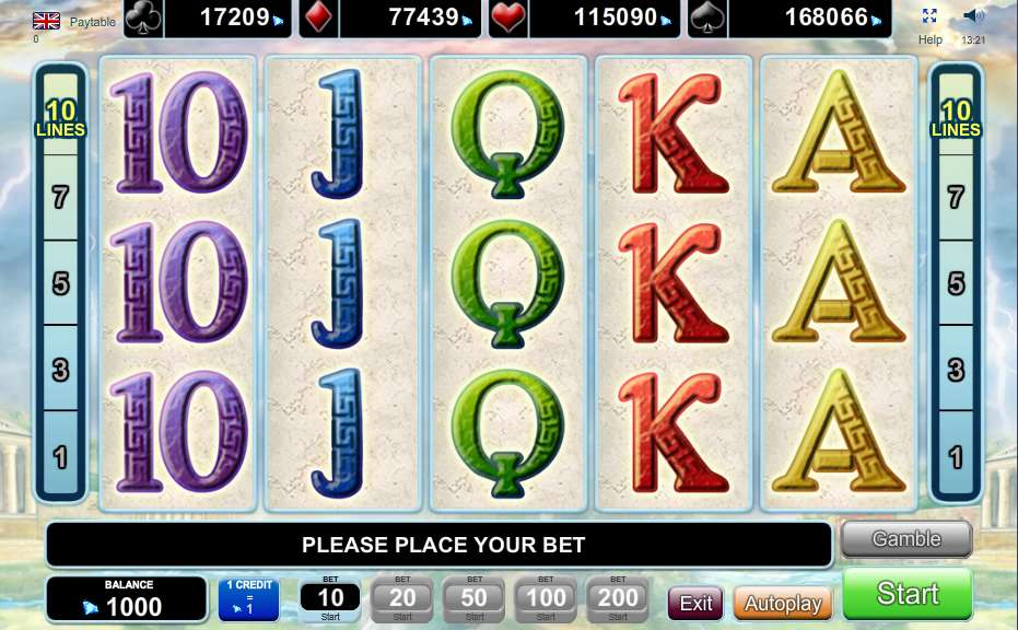 Olympus Glory Slots - Free Online EGT Slot Machine Game