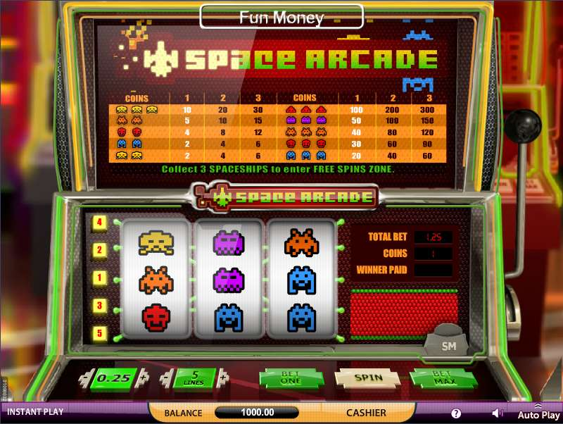 Space Arcade Slots - Play SkillOnNet Casino Games Online