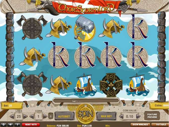 Thor Stormlord Online Slot - Review and Free Play Game