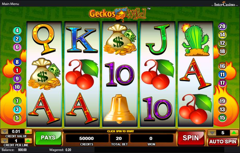 Play Geckos Gone Wild Video Slot From Cadillac Jack For Free