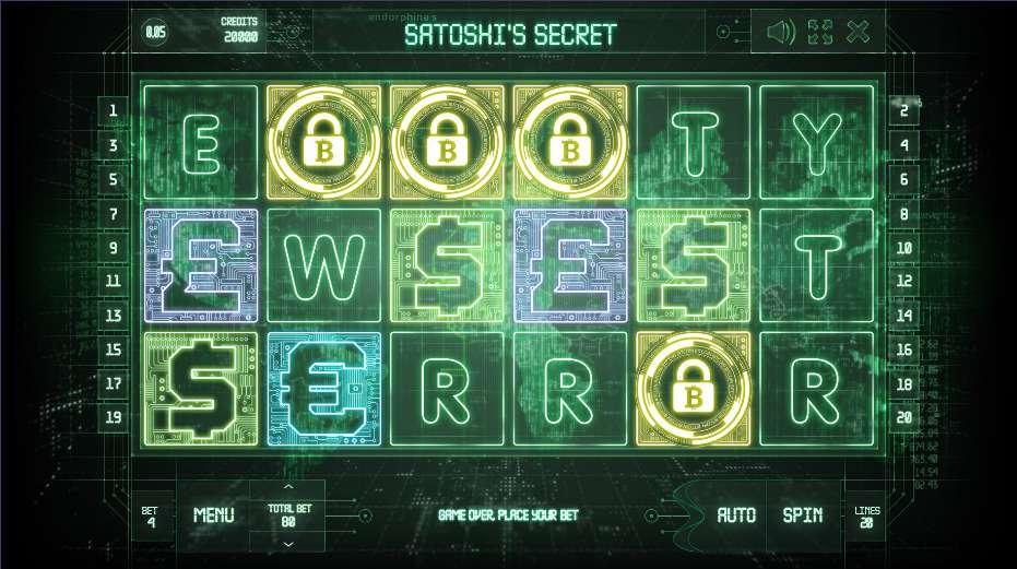 Play Satoshis Secret free online slots with no download required!