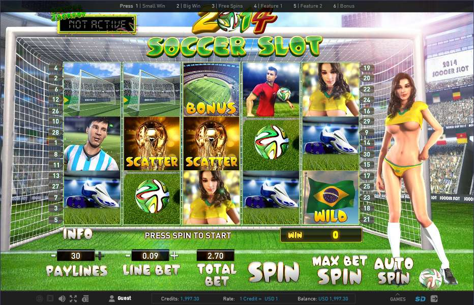 2014 Soccer Slot by Gameplay Interactive